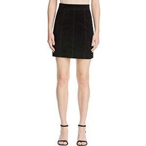 New BARDOT Real Suede Aline Mini Black Skirt